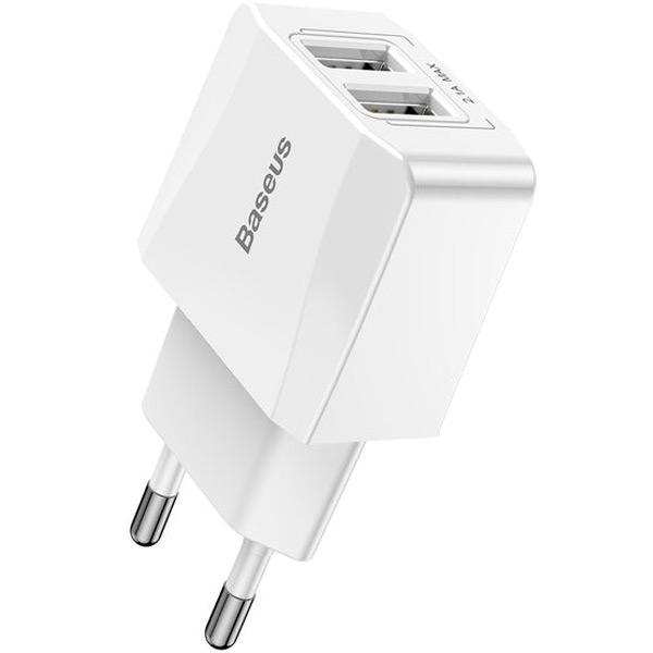 Зарядное устройство Baseus Mini Dual-U Charger 2.1A