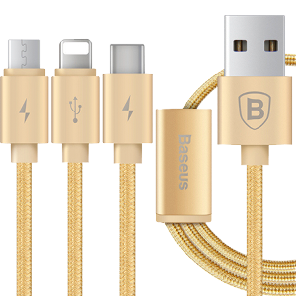 Кабель 3-in-1 Baseus Portman Series MicroUSB - Lightning - Type-C 1.2 M