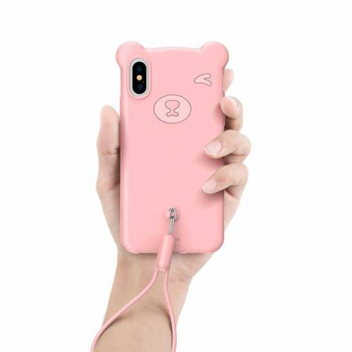 Чехол Bear Silicone Case для iPhone XR
