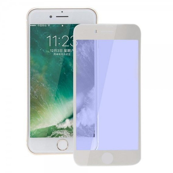 Baseus 0.3mm All-screen Arc-surface Anti-bluelight Tempered Glass Film For iPhone 7/8 Plus