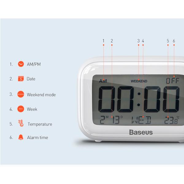 Настольные часы Baseus Subai Clock