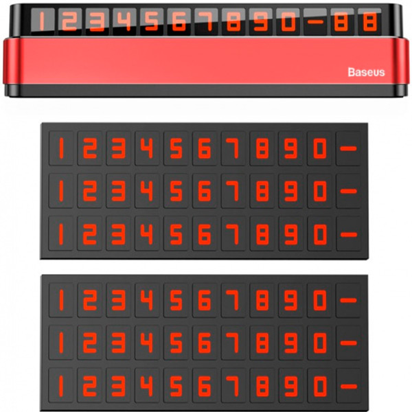 Автовизитка Baseus Moonlight Box Series Temporary Parking Number Plate