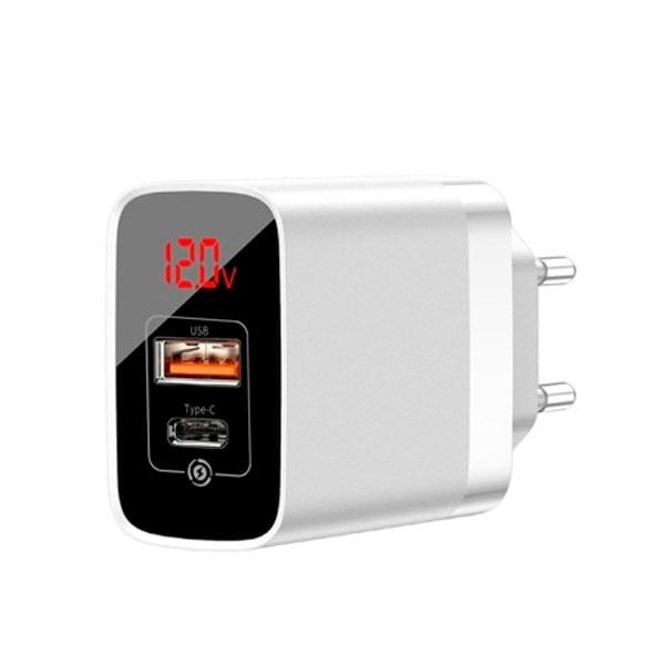 Зарядное устройство Baseus Mirror Lake PPS Digital Display quick Charger A+C EU