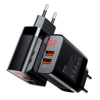 Зарядное устройство Baseus Mirror Lake Dual Digital Display Quick Charger A+A EU