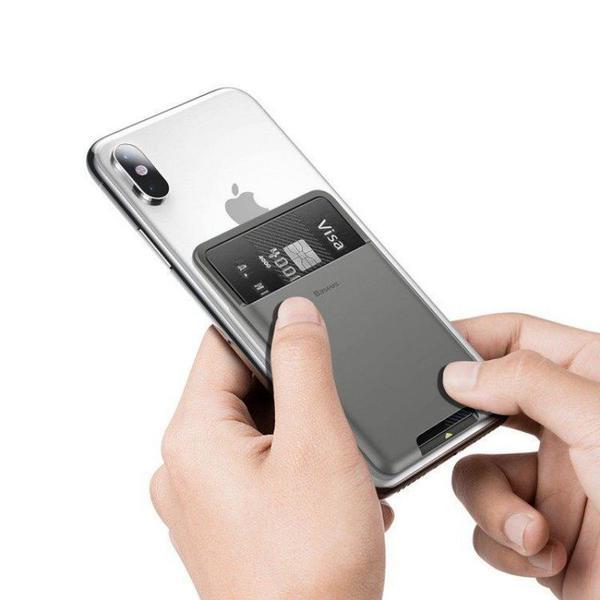 Накладка на смартфон для банковских карт Baseus back stick silicone