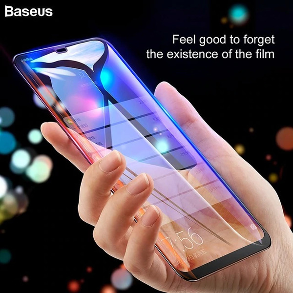 Baseus Full coverage curved tempered glass protector with anti-blue light function For Xiaomi Mi Mix 3
