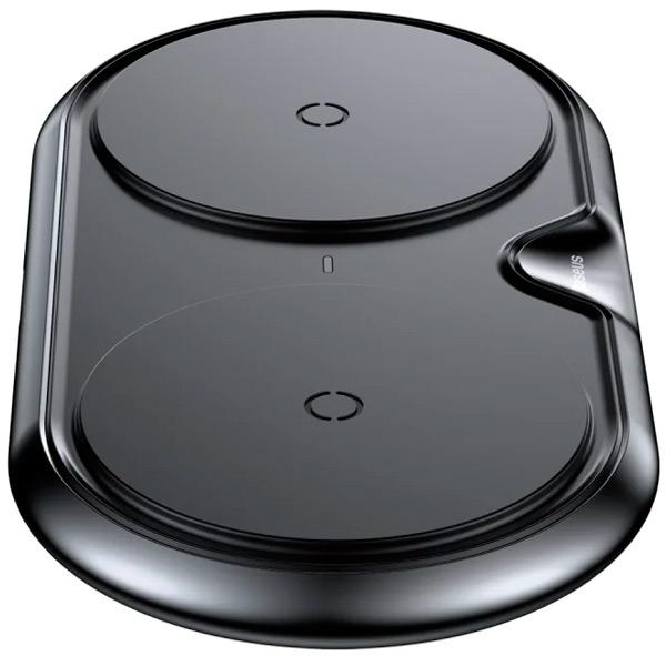 Беспроводная зарядка Baseus Dual Wireless Charger metal