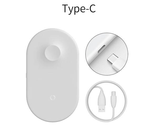 Беспроводное зарядное устройство Baseus Smart 2in1 (кабель USB Type-C)