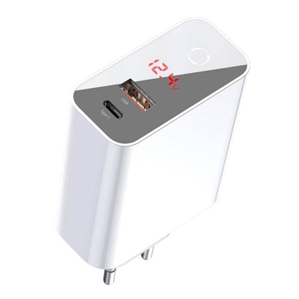 Зарядное устройство Baseus SpeedPPSIntelligentPower-off&DigitalDisplay(Type-C+USB)