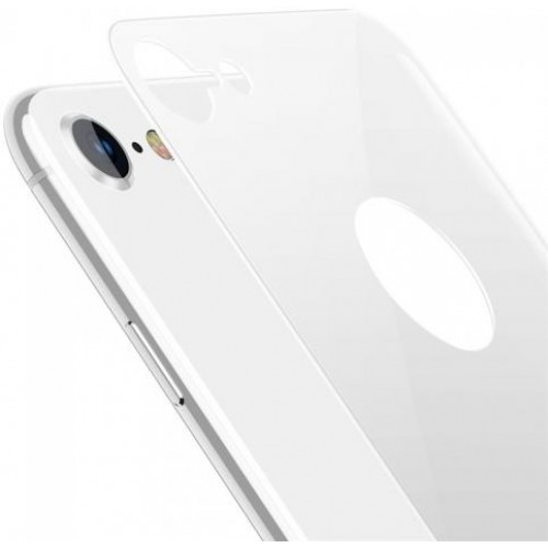 Baseus 4D Arc Back Glass Film For iPhone 8