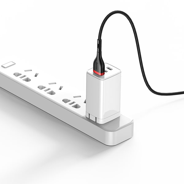 Кабель Baseus Cafule Series 2-in-1 USB to C+ Watch Charging Dock для Huawei Phone & Watch 1.5m