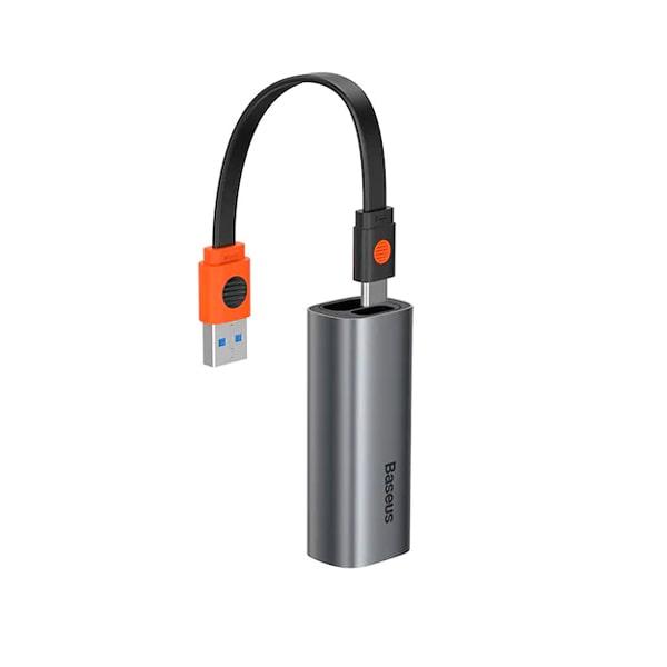 Адаптер Baseus Steel Cannon Series USB A & Type-C Bidirectional Gigabit LAN