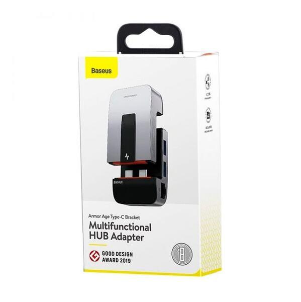Адаптер Baseus Armor Age Type-C Bracket Multifunctional HUB Adapter