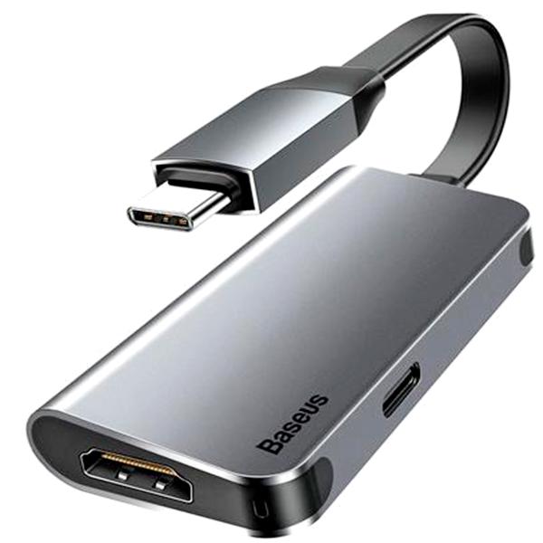 Переходник Baseus Little box USB-C/HDMI+USB-C CAHUB-E0G
