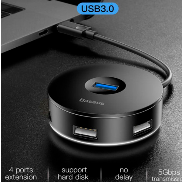 Хаб Baseus Round box (Type-C to USB3.0 х 1+USB2.0 х 3)