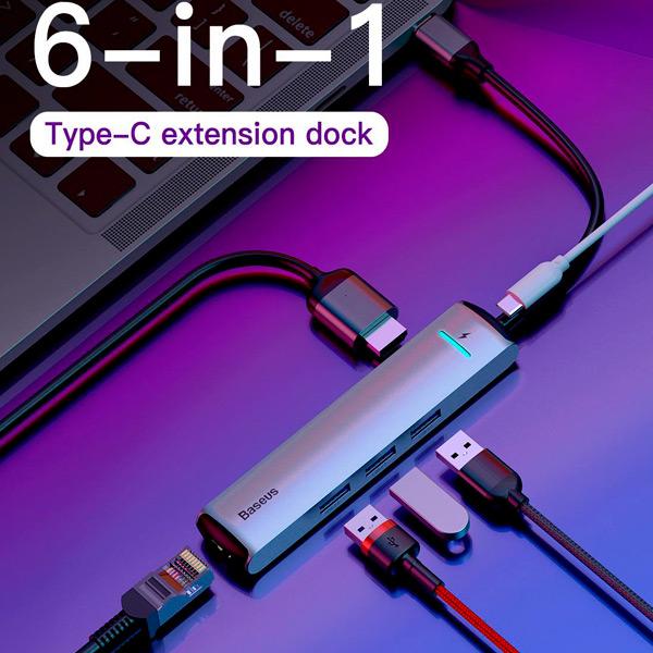USB-концентратор Baseus Mechanical eye 6 в 1