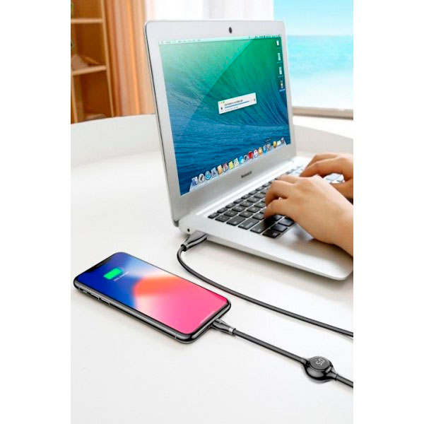 Кабель Baseus Big Eye Digital display Data Cable Lightning - USB