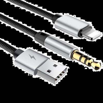 Кабель Baseus Lightning to USB/Mini-jack 3.5 L34 1.2M