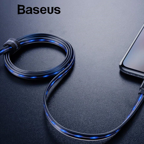 Кабель Baseus Glowing Data cable USB For Lightning