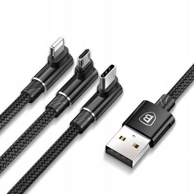 Кабель Baseus MVP 3-in-1 Mobile game Cable USB