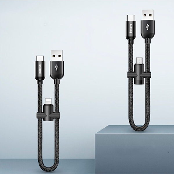 Кабель Baseus U-shaped USB-A to USB-C/Lightning