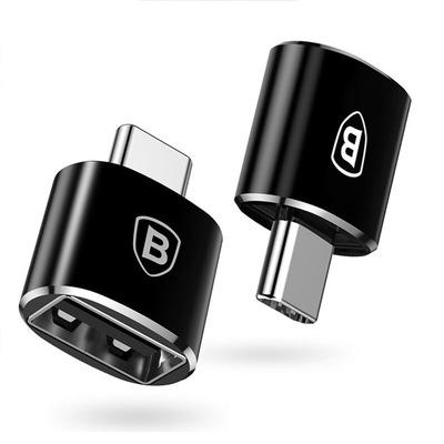 Адаптер Baseus Adapter USB-C to USB Female Black (CATOTG-01)