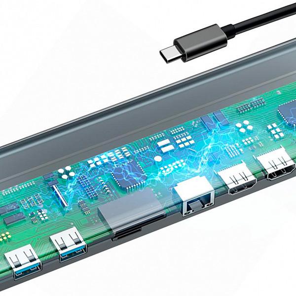 USB-концентратор Baseus Enjoyment Series USB-C (11 в 1)