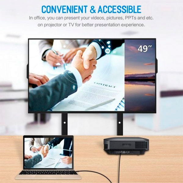 Кабель Baseus C-Video USB-C - HDMI Male 1.8 М