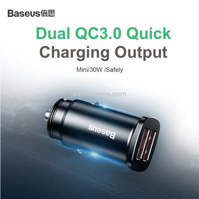 Автомобильно зарядное устройство Baseus Car Charger Dual+USB QuickCharge3 30W
