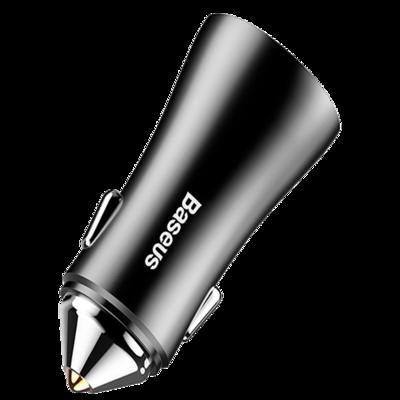 Автомобильное зарядное устройство Baseus Golden Contactor Dual U Intelligent Car Charger