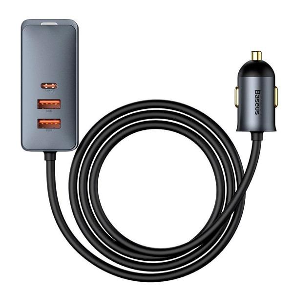 Автомобильное зарядное Baseus Share Together PPS multi-port Fast charging with extension cord 2U+2C