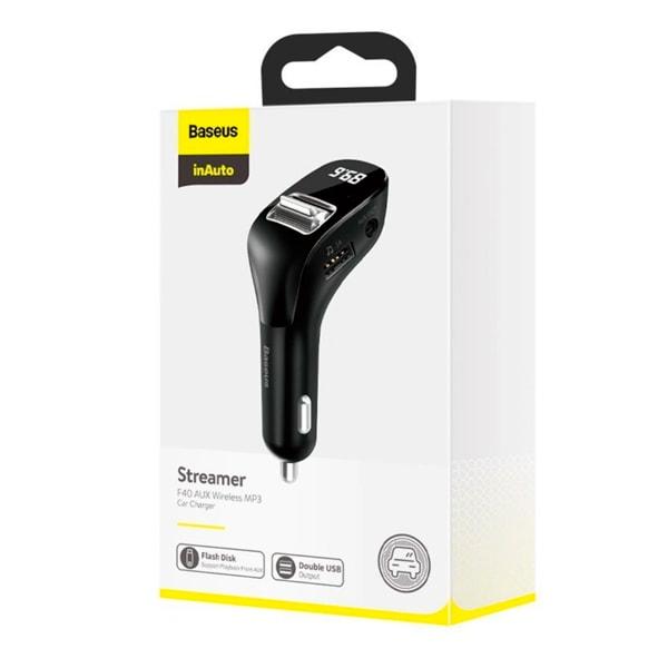 MP3 + автомобильное зарядное Baseus Streamer F40 AUX MP3