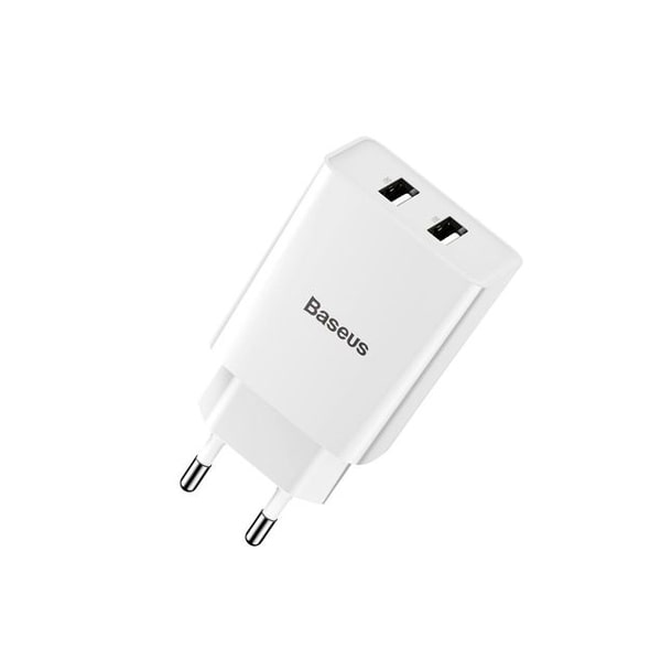 Сетевое зарядное Baseus Speed Mini Dual U Charger 10.5W