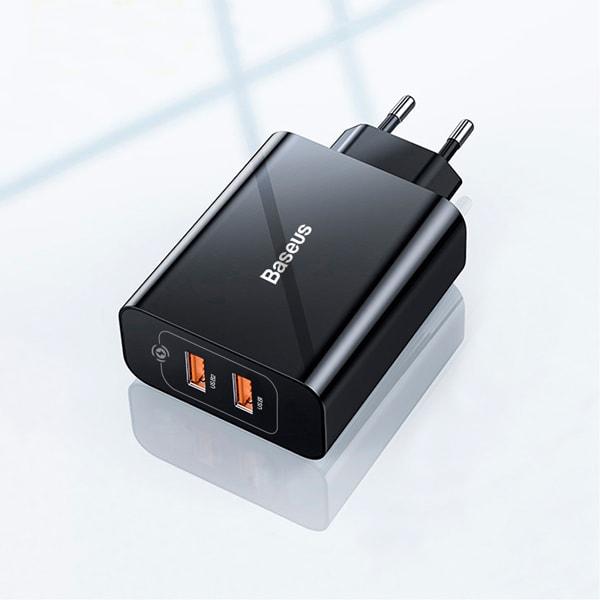 Сетевое зарядное Baseus Speed Mini QC Dual U Quick Charger 18W