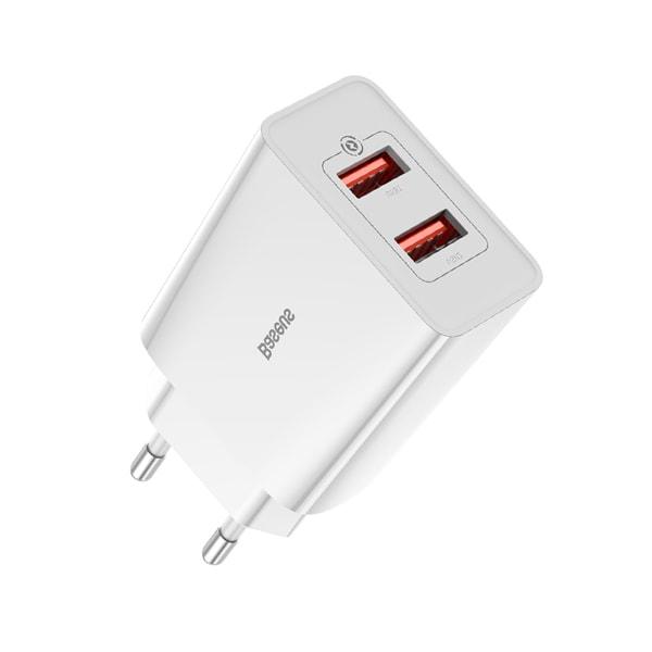 Сетевое зарядное Baseus Speed Mini QC Dual U Quick Charger 18W