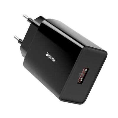 Сетевое зарядное Baseus Speed Mini QC single U Quick Charger 18W