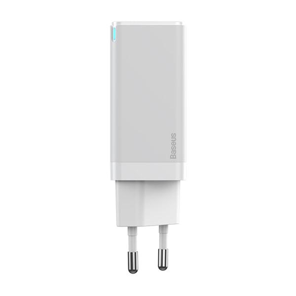 Сетевое зарядное Baseus GaN Mini Quick Charger C+U 45W EU With Mini Cable Type-C to Type-C 60W 20V/3A
