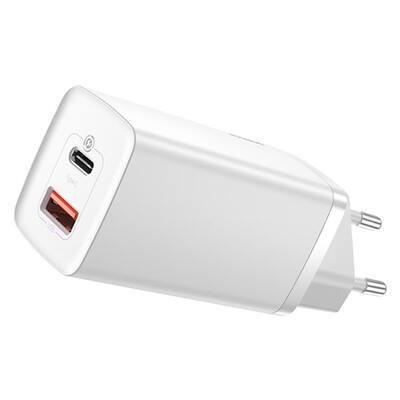 Сетевое зарядное Baseus GaN2 Lite Quick ChargerC+U 65W