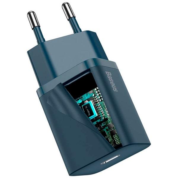 Сетевое зарядное Baseus Super Si Quick Charger 1C 20W EU Sets