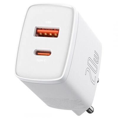 Сетевое зарядное Baseus Compact Quick Charger U+C 20W