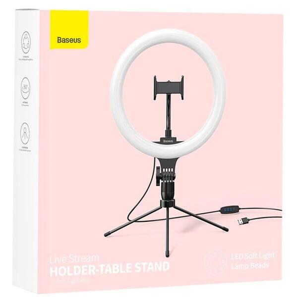 Кольцевая лампа Baseus Live Stream Holder-table Stand