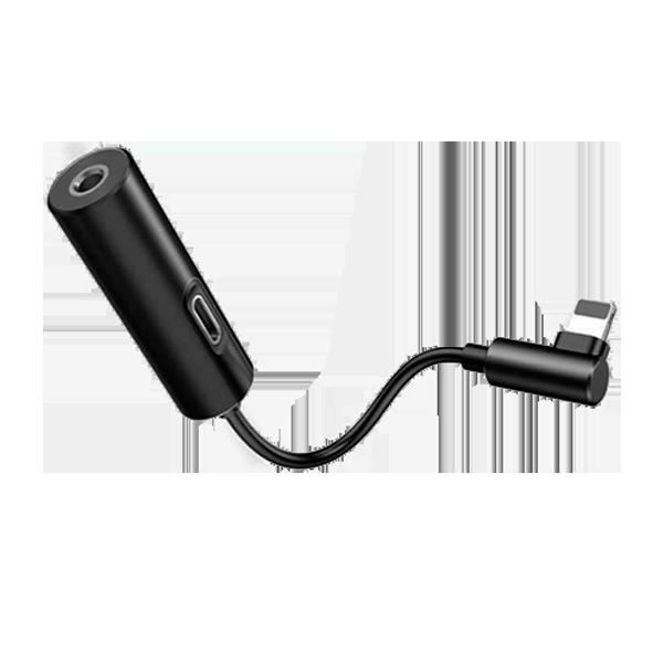 Аудио-переходник для iPhone Baseus L42 IP Male to 3.5mm+IP Female Adapter