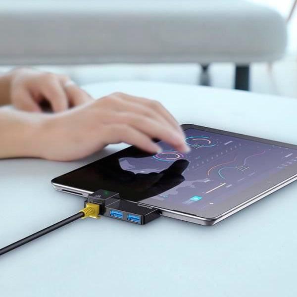 Хаб Baseus Multifunctional HUB for Surface Pro(USB A to RJ45*1+USB3.0*2)