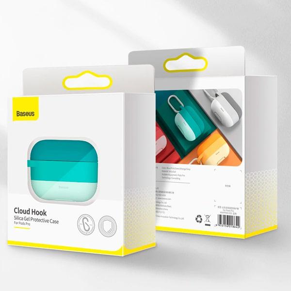 Чехол для наушников AirPods Pro Baseus Cloud hook Silica Gel Protective Case