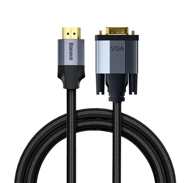 Кабель Baseus Enjoyment Series HD Male To VGA Male Dark gray