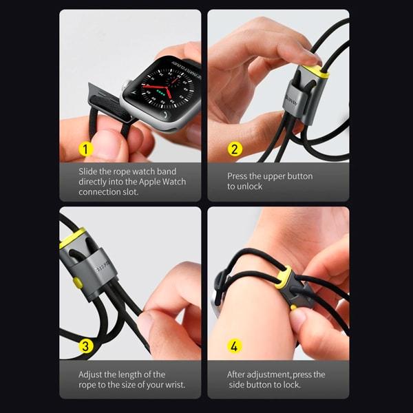 Ремешок для часов Baseus Let's go Lockable Rope Strap для Apple Watch Series 3/4/5 42-44mm