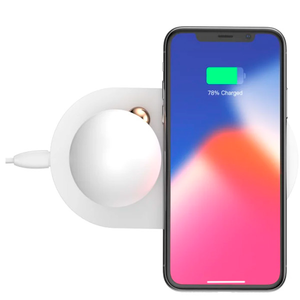 Беспроводная зарядка Baseus Mushroom Lamp Desktop Wireless Charger