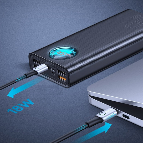 Внешний аккумулятор Baseus Amblight Quick Charge power bank 30000mAh