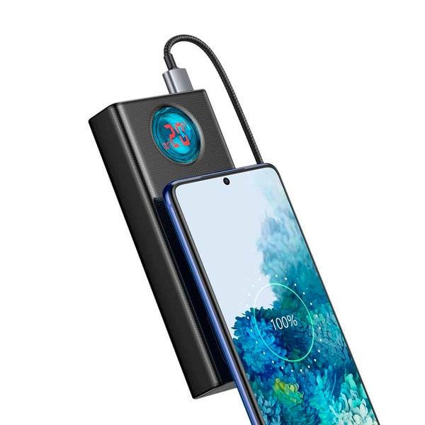 Внешний аккумулятор Baseus Amblight 30000mAh + кабель Baseus Xiaobai series Type-C  to Type-C 100W