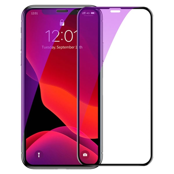 Защитное стекло Baseus 0.23mm with crack-resistant edges and anti-blue light For iPhone XS Max 6.5""